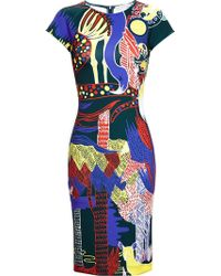 Mary Katrantzou Jungle Print Stretch Neoprene Dress - Lyst