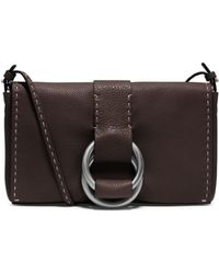 Michael Kors Julie Grained Calf Leather Double-Ring Clutch - Lyst