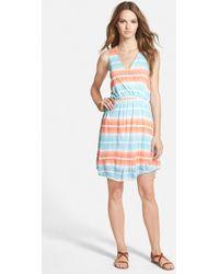 Splendid 'Caribbean Stripe' Sleeveless Dress - Lyst