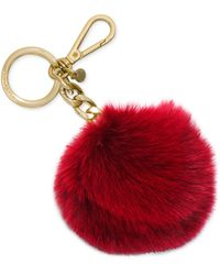Michael Kors Michael Key Charms Fur Pom Pom - Lyst