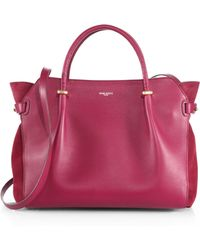 Nina Ricci Marche Suedepaneled Leather Tote - Lyst