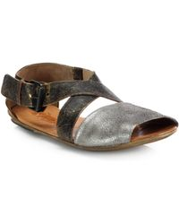 Marsell Leather Crisscross Sandals - Lyst
