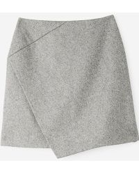 Carven | Front Crossover Skirt Grey | Lyst