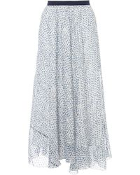 Band of Outsiders - Floral Silk Midi Skirt - Lyst