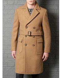 Farrell - Slim Fit Camel Prohibition Coat - Lyst