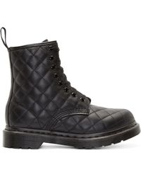 Dr. Martens Black Quilted 8_Eye Coralie Boots black - Lyst