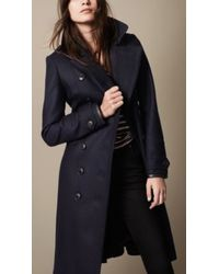 Burberry Wool Blend Military Pea Coat with Warmer - Lyst