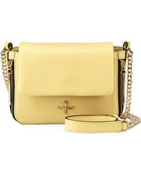 Pour La Victoire Alsace Snakeembossed Leather Mini Crossbody Bag - Lyst