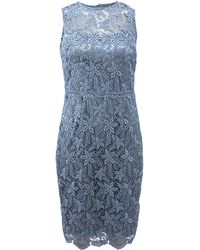 Teri Jon Floral Lace Dress - Lyst