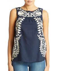 Lucky Brand Embroidered Top - Lyst