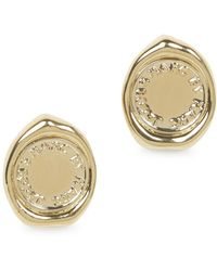 Marc By Marc Jacobs - Gold Tone Stud Earrings - Lyst
