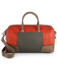 Brunello Cucinelli Colorblock Leather Bowler Bag - Lyst