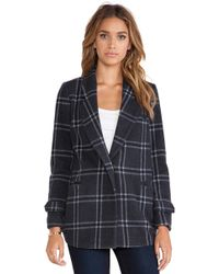 JOA Classic Checked Collar Jacket - Lyst