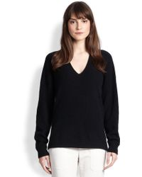 Vince Oversized Ribbed Cashmere Sweater - Lyst