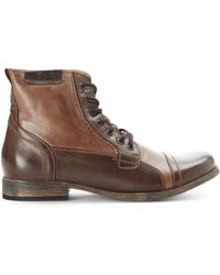 Steve Madden Brown Triggah Cap Toe Boots - Lyst