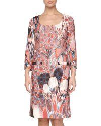 Philosophy di Alberta Ferretti 34-sleeve Printed Knit Dress - Lyst