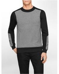 Calvin Klein White Label Ck One Slim Fit Lightweight Heathered Ponte Knit Sweatshirt gray - Lyst