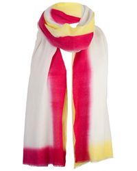 Rose & Rose Rose and Rose Yellow 2 Tone Dipped Cashmere Scarf - Lyst