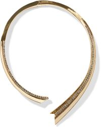 Giles & Brother - Gold-plated Crystal Necklace - Lyst