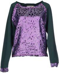 Gaëlle Bonheur Sweatshirt purple - Lyst