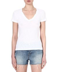 James Perse Vneck Jersey Tshirt White - Lyst