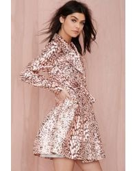 Nasty Gal On The Prowl Leopard Trench Coat - Lyst