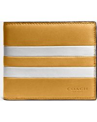 COACH | Modern Varsity Stripe Compact Id Wallet In Sport Calf Leather | Lyst