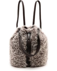 Elizabeth And James Cynnie Shearling Sling Bag  Steel Grey - Lyst