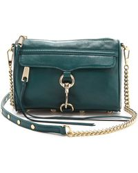 Rebecca Minkoff Mini Mac Bag Petrol - Lyst