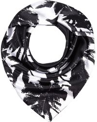 River Island Black and White Palm Tree Print Square Scarf - Lyst