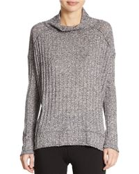 Free People Ribbed High Low Sweater - Lyst