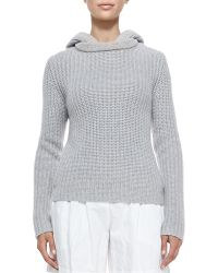 Michael Kors Shaker-knit Cashmere Hoodie - Lyst