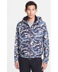 Moncler 'Nath' Camo Print Hooded Jacket - Lyst