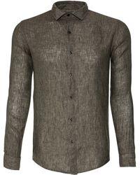 Scp Topolino Linen Shirt green - Lyst