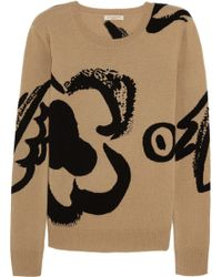 Burberry Brit - Intarsia Wool And Cashmere-Blend Jumper - Lyst