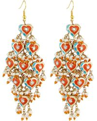 Chamak by Priya Kakkar - Diamond-shape Tiered Earrings - Lyst