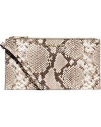 Michael Kors - Bedford Large Embossed-leather Wristlet - Lyst
