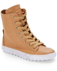 Kelsi Dagger Brooklyn Savage Leather High-Top Sneakers - Lyst