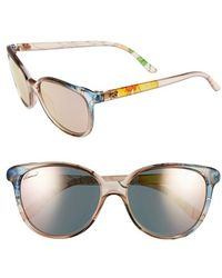 Gucci 55Mm Floral Print Sunglasses multicolor - Lyst