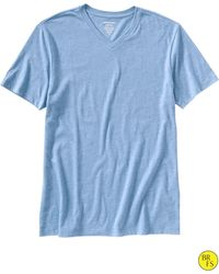 Banana Republic Factory Fitted V Neck Tee Light Blue - Lyst