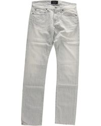 Spurr By Simon Spurr 3 Year Wash Light Grey Stretch Denim gray - Lyst