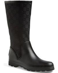 Gucci 'New Prato' Rain Boot - Lyst