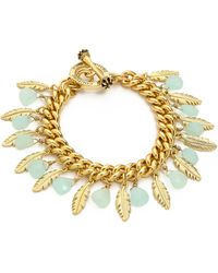 Juicy Couture - Feather Stone Charm Bracelet  - Lyst