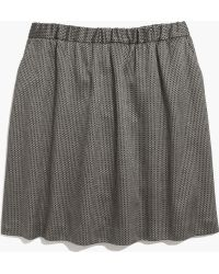 Madewell Jacquard Party Skirt - Lyst