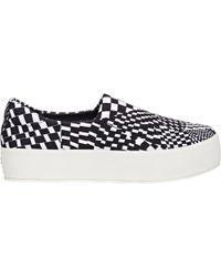 Opening Ceremony Checkered Slip-On Platform Sneakers white - Lyst