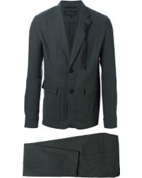 Ann Demeulemeester - Crinkled Effect Two Piece Suit - Lyst