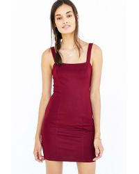 Silence + Noise - Square-neck Thick-strap Bodycon Dress - Lyst