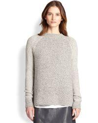 Vince Wool Silk Cashmereblend Sweater - Lyst