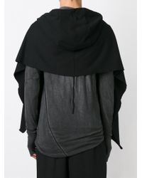 Lost & Found - Strip Detailing Hooded Scarf - Lyst