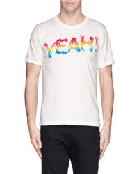 Paul Smith Slogan Print Jersey T-Shirt - Lyst